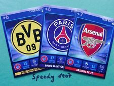 Champions League 2015 all 25 Badges Logos Wappen complete  Panini Adrenalyn  15