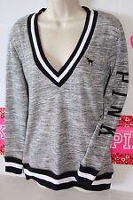 New Victoria Secret Pink V-Neck Pullover  Sweatshirt Top . XS