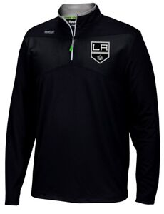 Los Angeles Kings Reebok NHL 2016 Center Ice Speedwick 1/4 Zip Sweatshirt