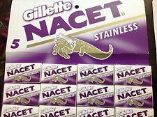400 Blades Gillette NACET NEW STAINLESS Double edge blade Razor blades. Sale