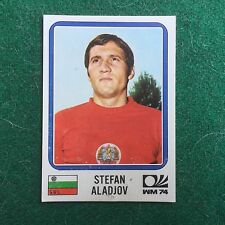 MUNCHEN 74 1974 n 256 BULGARIA Stefan ALADJOV Figurina Sticker Panini (NEW)