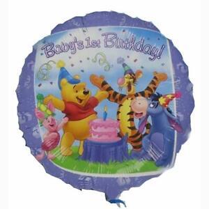 "Winnie The Pooh Happy Birthday Balloon Foil Mylar 18"" Round Party Decor New"