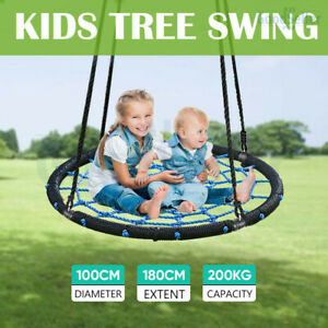 Kids Nest Spider Web Swing Hammock Chair Seat Outdoor Rope Tree Play Yard Toys