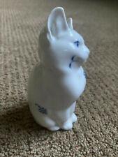 "Royal Copenhagen Rare Blue Fluted Cat Figurine Denmark 5-1/2"" Tall- from 1935"