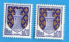 VARIÉTÉ  N°:1351A  ( Couleur bleu-vif + couleur bleu ) Niort- Neufs **