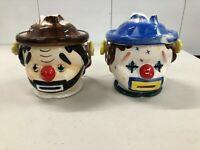 VINTAGE JAPAN LIPPER & MANN CLOWN FACES