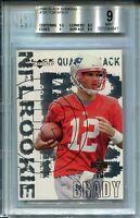 2000 Black Diamond Football #126 Tom Brady Rookie Card RC Graded BGS Mint 9