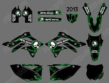 TEAM GRAPHICS BACKGROUNDS DECALS STICKER For KAWASAKI KX450F KXF450 2013-2015 D3