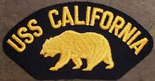 """US NAVY Hat Patch: USS CALIFORNIA CGN-36 'GOLDEN GRIZZLY"""" Military Patch NEW!"""