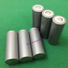 6pcs 18500 3.2V LiFePO4 IFR rechargeable Li-phosphate battery 1100mAh flat cap