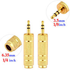2 x 1/8 inch to 1/4 inch, 3.5mm to 6.35mm  Stereo Headphone Jack Socket Adapter