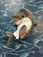 "Melissa and Doug 12"" Gray & White Skimmer Plush Dolphin Stuffed Toy"