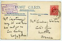GB Thomas Cook 1909 postcard to Mentone France - superb COOK/ MENTONE cachet