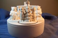 Ceramic Bisque Christmas Bedtime Bears Family Music Box Duncan158 Ready To Paint
