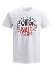 Jack&Jones Originals Camiseta para Hombre Cuello Redondo Algodón Pecho Impresa