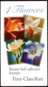 US Stamp (34c) Flower Non-Denominated 20 Stamp Booklet Scott #BK281