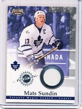 2002/03 PACIFIC EXCLUSIVE MATS SUNDIN GAME/WORN JERSEY