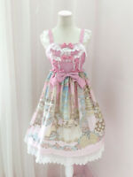 Bowknot Palace Princess Slip Dress Kawaii Japanese Sweet Lolita Lace Dresses Top