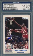 1984 Star Denver Police ASG #20 Rickey Green PSA/DNA Certified Auth Auto *6386