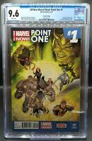 All-New Marvel Now Point One #1 CGC 9.6 2nd Print 2014 1st App 🔥 Kamala Khan 🔥