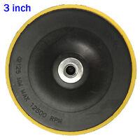 3/4/5/6/7'' M14 Black Backing Plate Car Pad Polisher Buffing Hook&Loop Discs