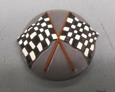 trophy parts lot of 16 resin inserts 2' diameter checkered flag grey