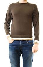 LOU D Uomo Pullover Maglione Girocollo Maniche Lunghe Drak brown taglia M BCF511