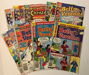 Lot of 9 copper age Betty and Veronica comics - various grades Archie Comics