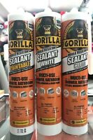 Gorilla Sealant WHITE CLEAR & PAINTABLE MOULD resistant Multi use SHOWER KITCHEN