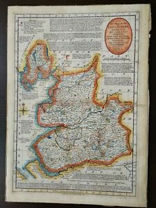 C.BOWLES HAND COLOURED  MAP OF LANCASHIRE- PUBLISHED 1785