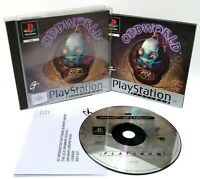 Oddworld: Abe's Oddysee ~ Sony PlayStation PS1 Platinum Game *Excellent CIB*