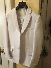 Boy's 5 Pc White Formal Suit  w Jacket Vest Shirt Tie First Communion Baptism 14
