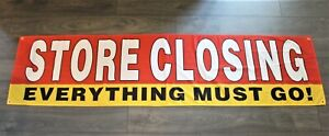 Store Closing Banner Outdoor Sign Large Going Out of Business Liquidation Sale