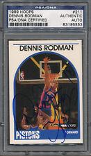 1989/90 Hoops #211 Dennis Rodman PSA/DNA Certified Authentic Auto *5553