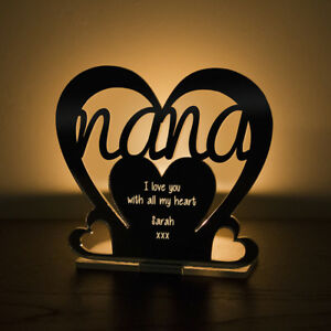 Personalised Tea Light Heart Candle Holder For NANA Birthday Mother's Day Gift