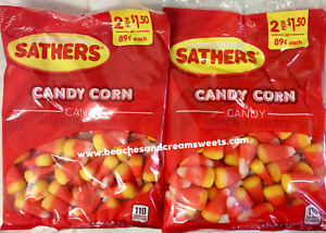 TWO BAGS of Sathers Candy Corn 3.25oz X 2 Bags USA Halloween Fall DATED JUNE '21