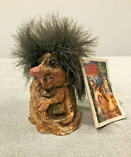 Troll Figurine with Booklet Handmade in Norway Collectibles Mystical