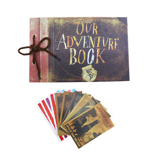 1x Fotoalbum 80 Seiten Our Adventure Book Gästebuch für Hochzeit Retro Album