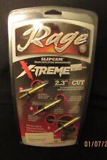 "Rage X-Treme Crossbow 2-Blade 2.3"" 100 gr Broadhead Arrowheads 3pk"