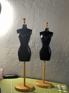 2 Doll Dress Form Clothes Gown Display Mannequin Model Stand for Blythe Barbie