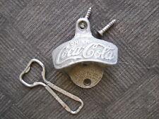 Lot of 2 Vintage Coca Cola Starr X Wall Mounted Bottle Opener & Hand Held Opener