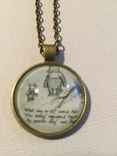 Vintage Pieces - Bronze Necklace Glass Cameo - Winnie The Pooh (2)