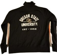 OSU Oregon State University Full Zip Black Sweatshirt Adult XL Fourth & One