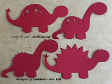 • • • Die Cuts ~ DINOSAURS x4 sets Red ~ Stampin Up C/S ~ Cards, Scrapbooking