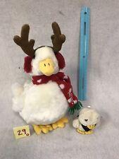 Aflac 2012 Christmas Reindeer Mascot Talking White Duck & Mini Plush