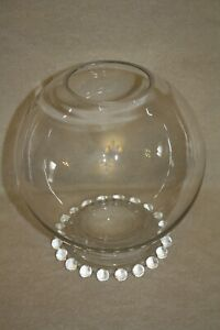 """Candlewick crystal #400/132 7 1/2"""" Footed Rose Bowl"""