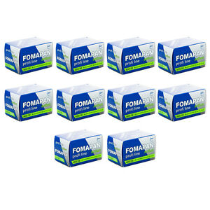 10 Rolls x FOMAPAN 400 Profi Line Action 135 35mm 36exp Black & White Film FOMA