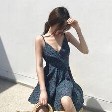 Korean style flower print dress