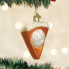 Old World Christmas Piece Of Pumpkin Pie Glass Christmas Ornament 32019