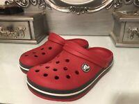 Crocs Crocband Kids Boys Girls Clog Shoes Sandal Red VGC Size C13